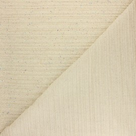Tissu polyester plissé Cosmic Day - champagne x 50cm