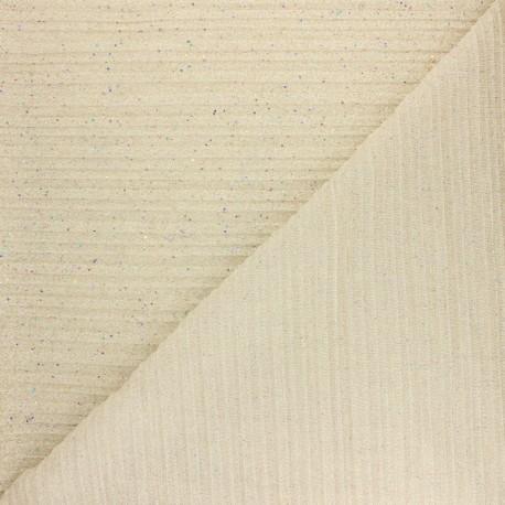 Pleated polyester fabric - burgundy éclat de lune x 10cm