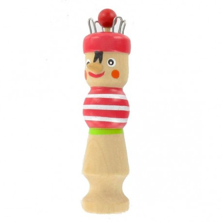 Wooden knitting doll  « red Karl » - red