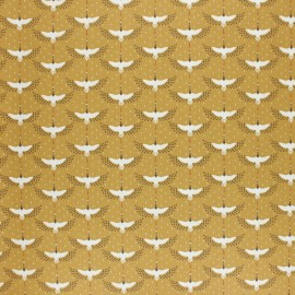 Coated cretonne cotton fabric - ochre Gruzzie x 10cm