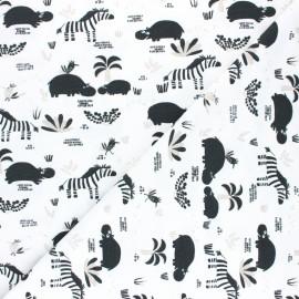 Tissu jersey Hipzoo - Blanc x 10cm