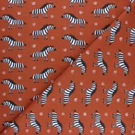 Tissu jersey Zebro - Rouille x 10cm