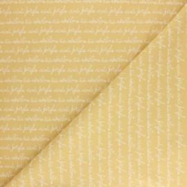 Tissu coton Pastel Jungle Adventure - Jaune x 10cm