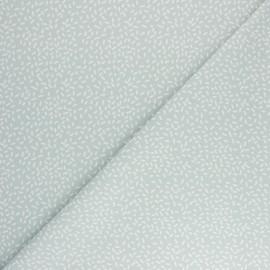 Tissu coton Pastel Jungle Confettis - Céladon x 10cm