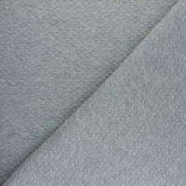 Tissu jersey matelassé mini-losange - gris chiné x 10cm