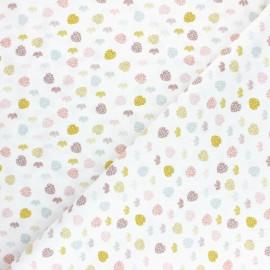 Tissu coton Pastel Jungle Feuilles - Blanc x 10cm
