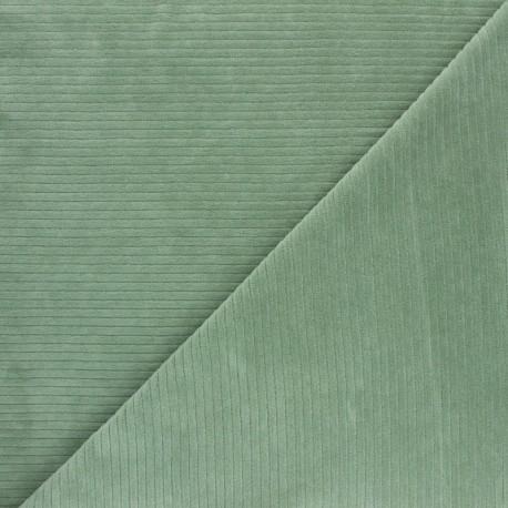 Ribbed velvet jersey fabric - blue x 10cm