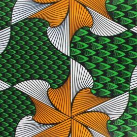 Tissu Wax Kyoga - jaune x 10cm