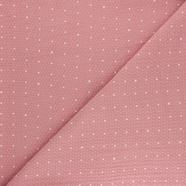 Tissu double gaze de coton  - rose x 10cm
