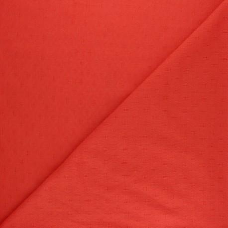 Openwork cotton voile fabric - raw Léonide x 10cm