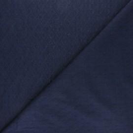 Openwork cotton voile fabric - nayv blue Léonide x 10cm