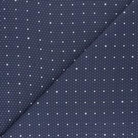 Tissu double gaze de coton Pluie de pois - bleu x 10cm