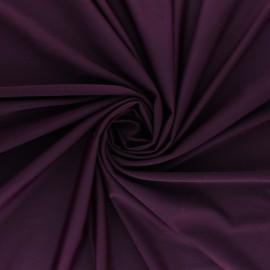 Tissu Lycra Maillot de bain uni - Prune x 10cm