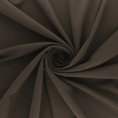 Tissu Lycra Maillot de bain uni - marron x 10cm