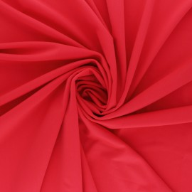 Tissu Lycra Maillot de bain uni - rouge coquelicot x 10cm