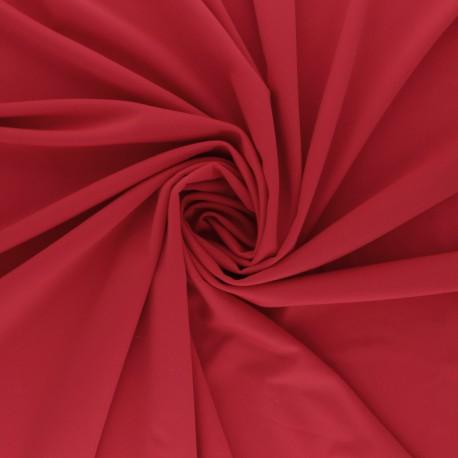 Tissu Lycra Maillot de bain uni - rouge passion x 10cm