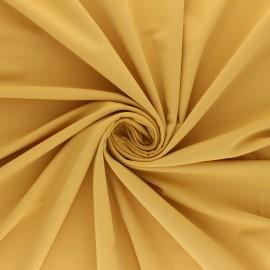 Tissu Lycra Maillot de bain uni - moutarde x 10cm