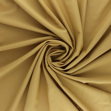 Tissu Lycra Maillot de bain uni - sable foncé x 10cm