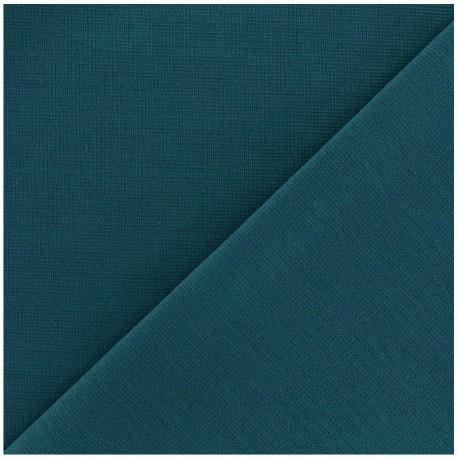 Tissu Jersey Milano lourd uni - pétrôle x 10cm