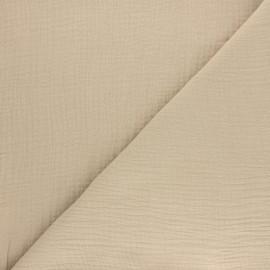 Tissu double gaze de coton Tendresse - beige x 10cm