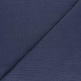 Double cotton gauze fabric - blue Tendresse x 10cm
