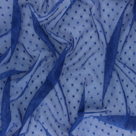 Tulle fabric - cobalt blue Millie x 10 cm