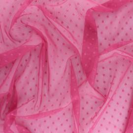 Tissu tulle souple Point d'esprit Millie - bleu x 10cm