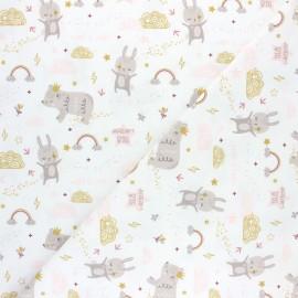 Jersey cotton fabric - white Dream x 10cm