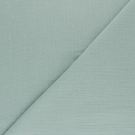 Tissu double gaze de coton Tendresse - vert opaline x 10cm