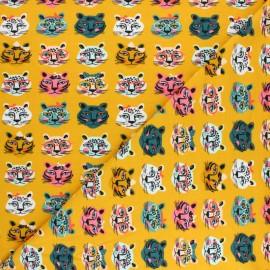 Tissu jersey Poppy Be Unique - Jaune x 10cm