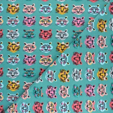Tissu jersey Poppy Be Unique - Vert x 10cm
