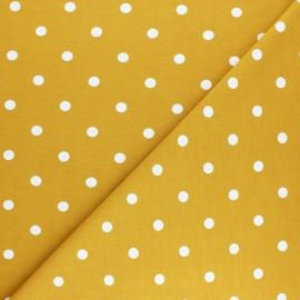 Tissu jersey Punto - moutarde x 10cm