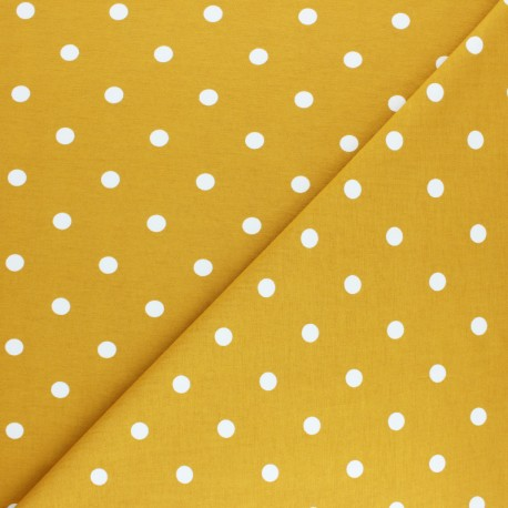 Cotton Jersey fabric - mustard Punto x 10cm