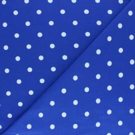 Tissu jersey de coton à pois blanc - noir x 10cm