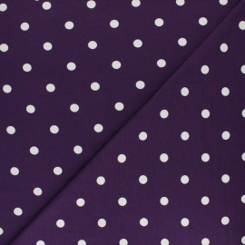 Dotted Cotton Jersey fabric - purple x 10cm