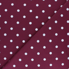 Dotted Cotton Jersey fabric - old pink x 10cm