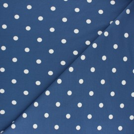 Dotted Cotton Jersey fabric - navy blue x 10cm