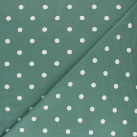 Dotted Cotton Jersey fabric - green x 10cm