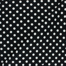 ♥ Coupon 50 cm X 150 cm ♥ Dotted Lycra Gabardine Fabric - black