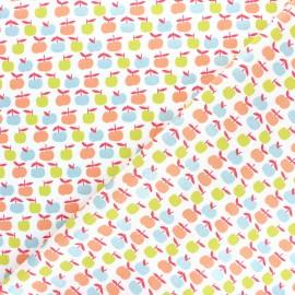 Tissu coton popeline Poppy Yummy apple's apple - blanc x 10cm