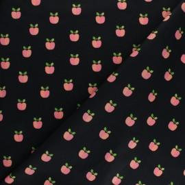 Tissu coton popeline Poppy Lovely apple - noir x 10cm