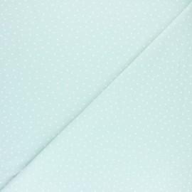 Tissu jersey Poppy Dotty - Vert d'eau x 10cm