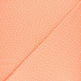 Poppy Jersey fabric - Peach pink Dotty x 10cm
