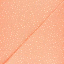 Tissu jersey Poppy Dotty - Pêche x 10cm