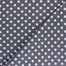 Dotted Lycra Gabardine Fabric - taupe brown x 10cm