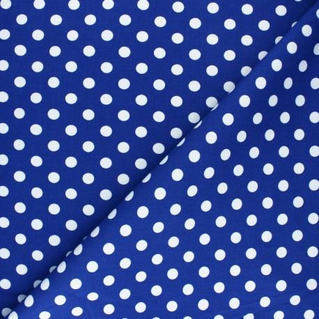Dotted Lycra Gabardine Fabric - navy blue x 10cm