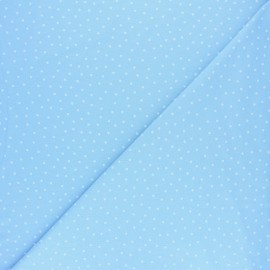 Poppy Jersey fabric - Blue Dotty x 10cm