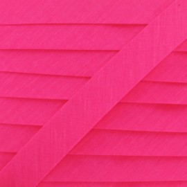 Plain bias binding ribbon - Neon pink