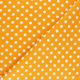 Dotted Lycra Gabardine Fabric - yellow x 10cm