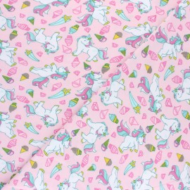 Poppy Jersey fabric - Pink Dotty x 10cm